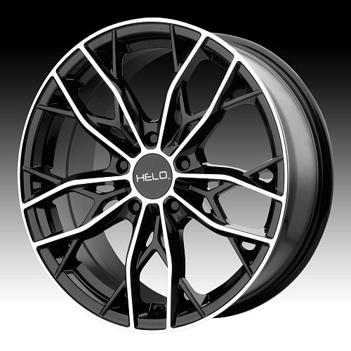 Helo HE907 Machined Black Custom Wheels Rims 1