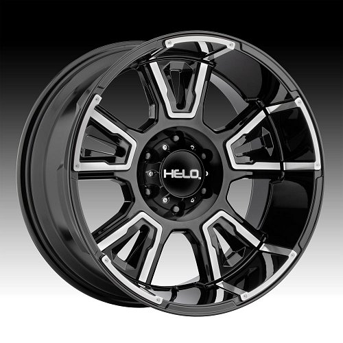 Helo HE914 Gloss Black Machined Custom Wheels Rims 1