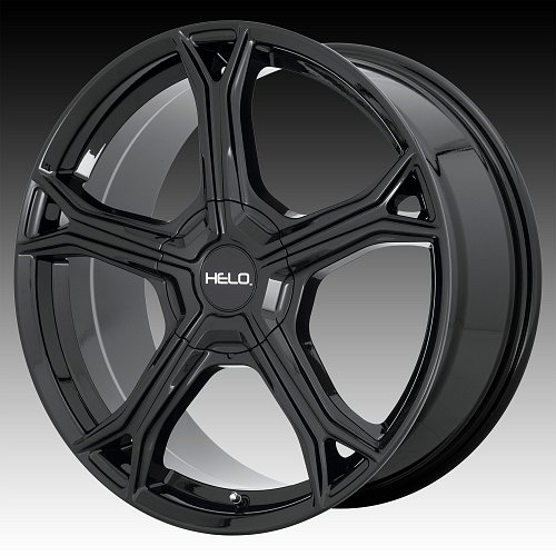Helo HE915 Gloss Black Custom Wheels Rims 1