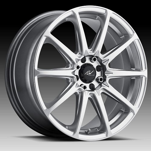 ICW Racing 215H Banshee Hyper Silver Custom Wheels Rims 1