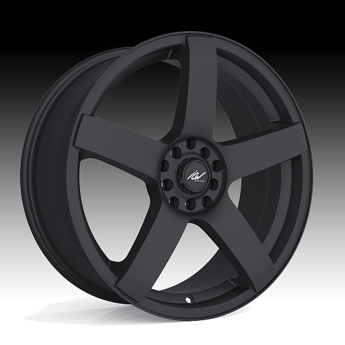 ICW Racing 216B Mach 5 Satin Black Custom Wheels Rims 1