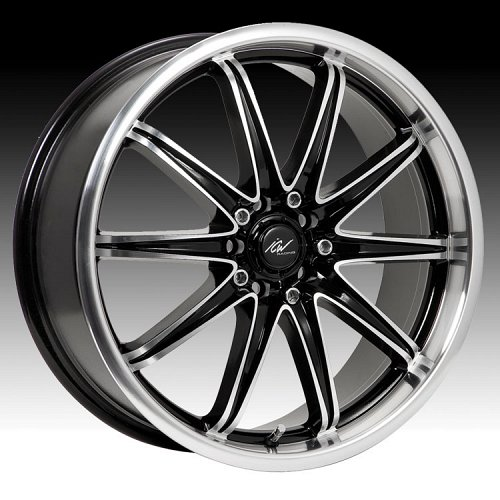 ICW Racing 214MB 214 Tsunami Gloss Black w/ Machined Custom Rims Wheels 1