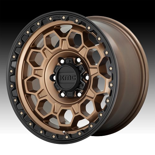 KMC KM545 Trek Matte Bronze Custom Wheels Rims 1