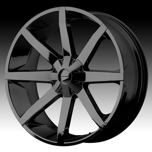 KMC Slide RWD KM651 651 Black Custom Rims Wheels 1