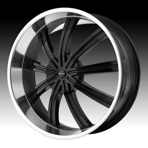 KMC Widow RWD KM672 672 Gloss Black Machined Custom Rims Wheels 1
