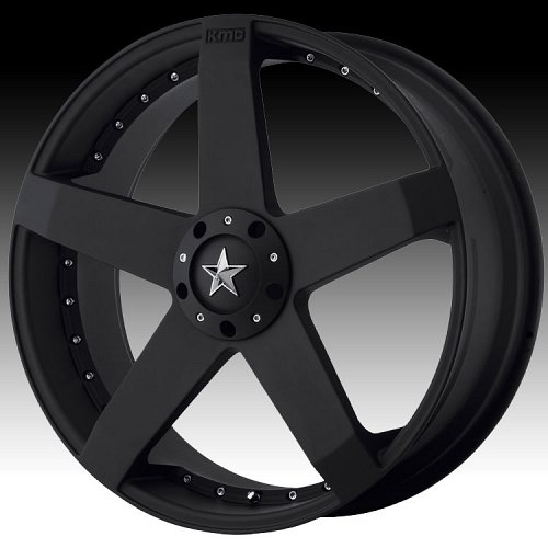 KMC Rockstar Car KM775 775 Matte Black Custom Rims Wheels 1