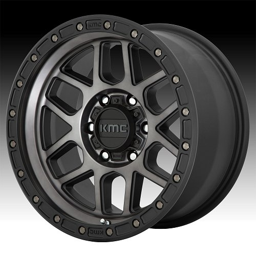 KMC KM544 Mesa Machined Black Gray Tint Custom Wheels Rims 1