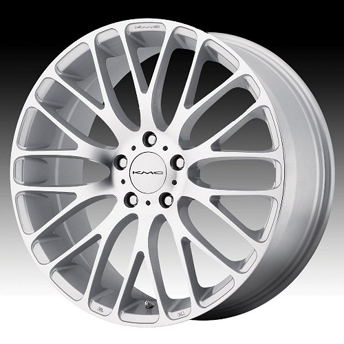 KMC KM693 Maze Machined Silver Custom Wheels Rims 1