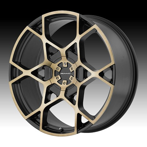 KMC KM695 Crosshair Satin Black Machined Custom Wheels Rims 1