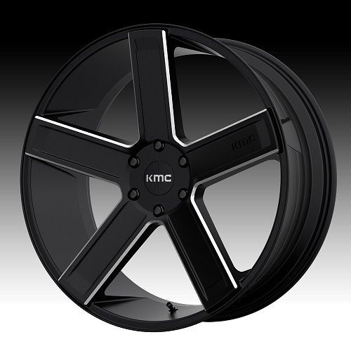 KMC KM702 Deuce Satin Black Milled Custom Wheels Rims 1