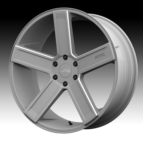 KMC KM702 Deuce Satin Gray Milled Custom Wheels Rims 1