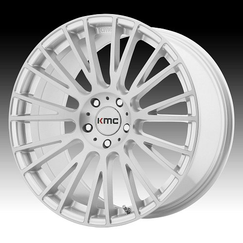 KMC KM706 Impact Brushed Silver Custom Wheels Rims 1