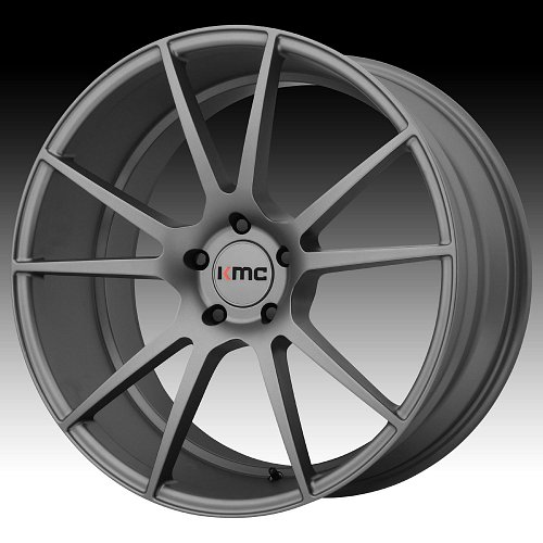 KMC KM709 Flux Charcoal Custom Wheels Rims 1