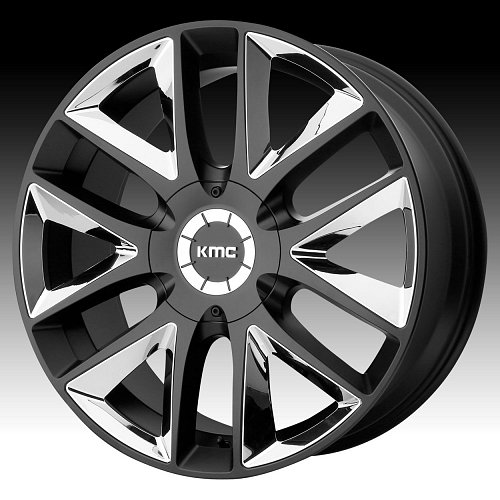 KMC KM710 Takedown Satin Black Custom Wheels Rims 1