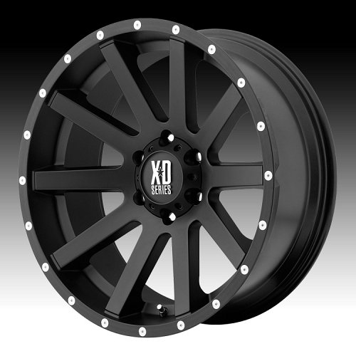 KMC XD Series XD818 Heist Satin Black Custom Wheels Rims 1