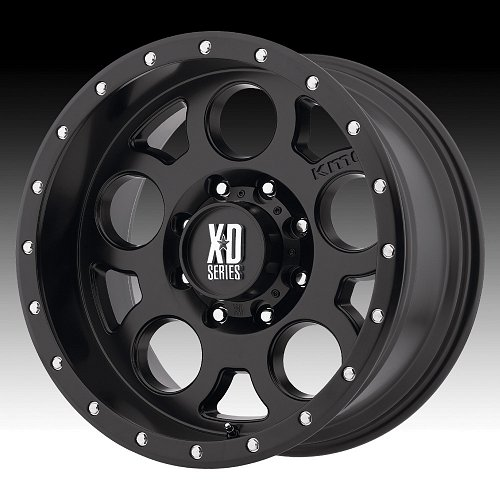 KMC XD Series XD126 Enduro Pro Satin Black Custom Wheels Rims 1