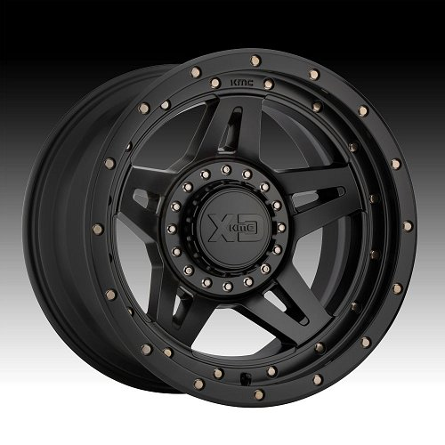 KMC XD Series XD138 Brute Satin Black Custom Wheels Rims 1