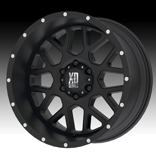 KMC XD Series XD820 Grenade Satin Black Custom Wheels Rims 1