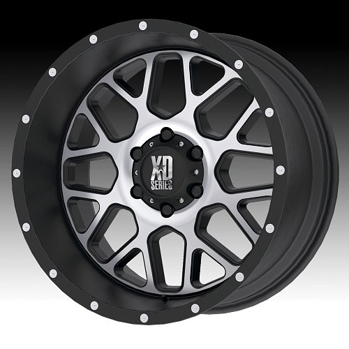 KMC XD Series XD820 Grenade Machined Satin Black Custom Wheels Rims 1