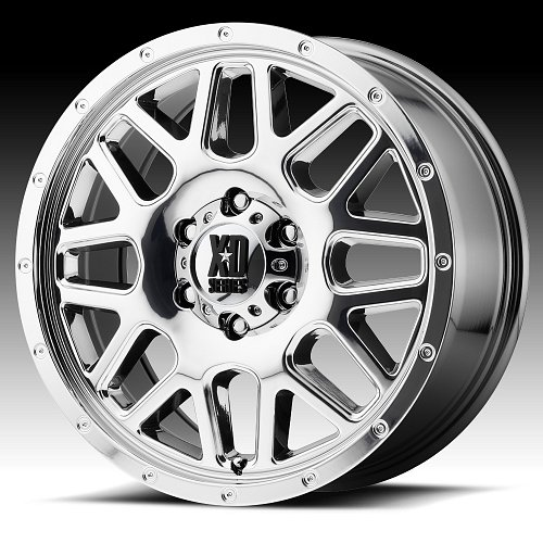 KMC XD Series XD820 Grenade Van Chrome PVD Custom Wheels Rims 1