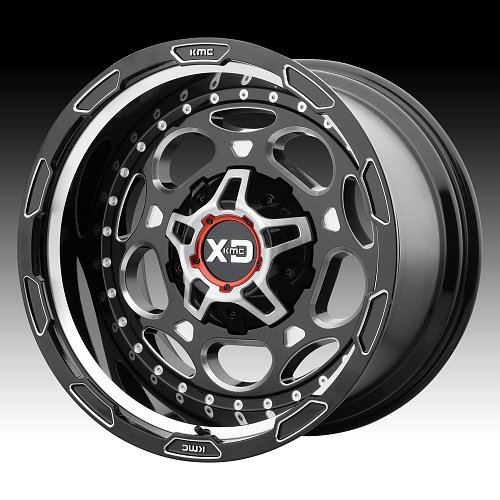 KMC XD Series XD837 Demodog Black Milled Custom Wheels Rims 1