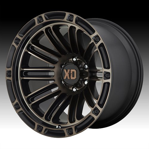 KMC XD Series XD846 Double Deuce Machined Black Dark Tint Custom Wheels Rims 1