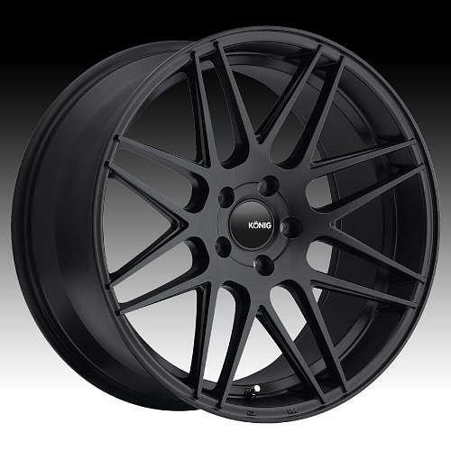 Konig Integram IM Matte Black Custom Rims Wheels 1