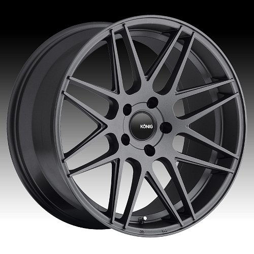 Konig Integram IM Matte Graphite Custom Rims Wheels 1