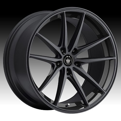 Konig Oversteer OS Gloss Black Custom Rims Wheels 1