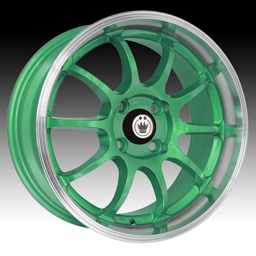 Konig Lightning 26GR LI Green w/ Machined Lip Custom Rims Wheels 1