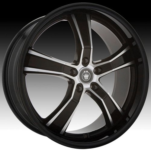 Konig Airstrike 27MB AS Gloss Black w/ Machined Face Custom Rims Wheels 1