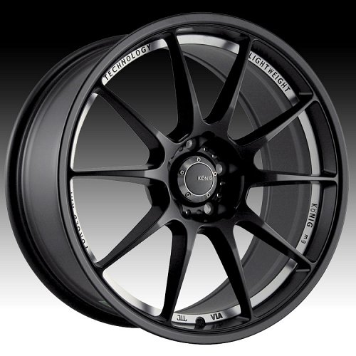 Konig Milligram 29B MG Matte Black w/ Machined Undercut M.A.T Custom Rims Wheels 1