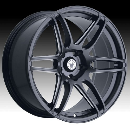 Konig Deception 32MB DE Matte Black w/ Ball Cut Machined Custom Rims Wheels 1