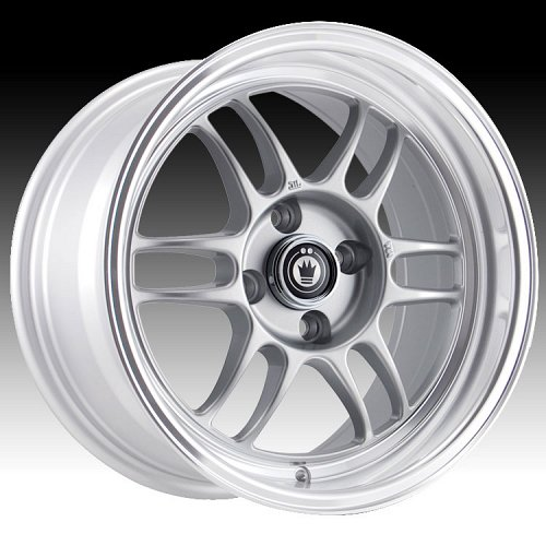 Konig Wideopen 47MS WI Silver w/ Machined Lip Custom Rims Wheels 1