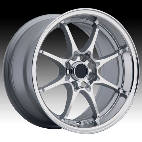 Konig Flatout Machined Face Silver Custom Rims Wheels 1