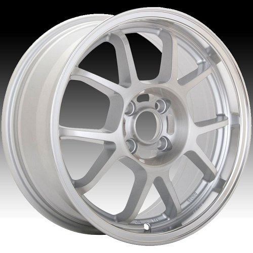 Konig Foil 17MS 4L Brushed Silver Face w/ Machined Lip Custom Rims Wheels 1