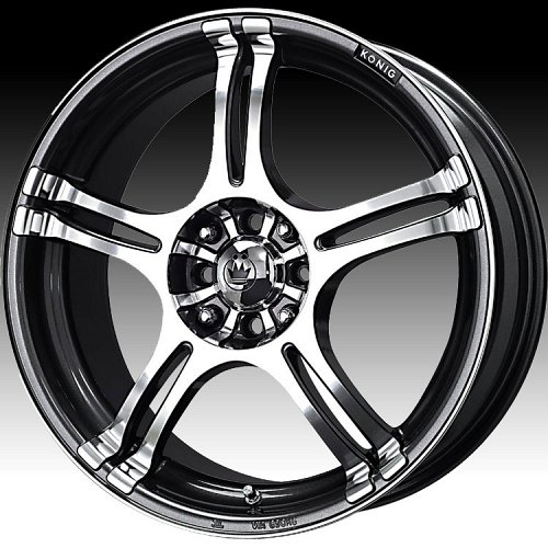 Konig Incident 1N 48A Graphite Custom Rims Wheels 1