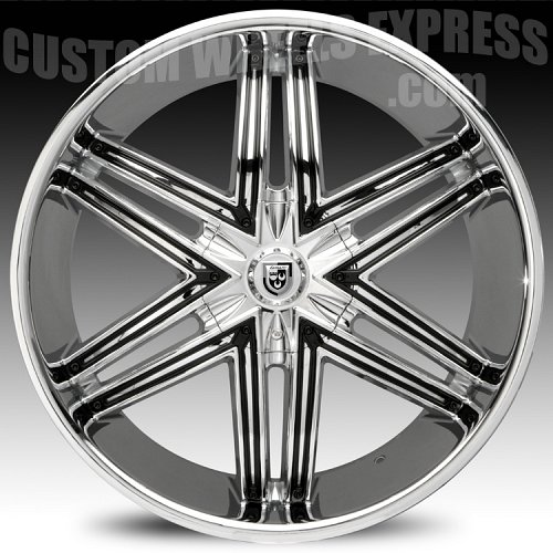 Lexani Advocate Chrome w/ Black Inserts Custom Wheels Rims 2