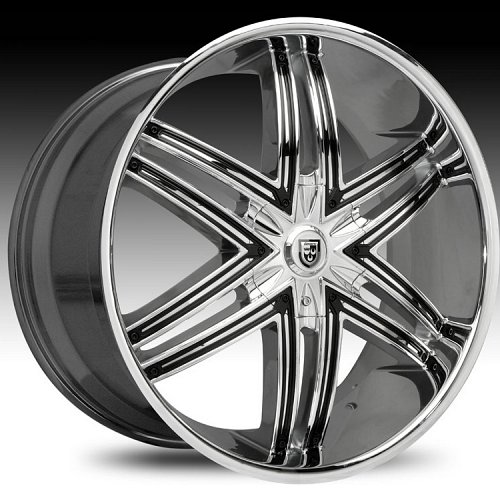 Lexani Advocate Chrome w/ Black Inserts Custom Wheels Rims 1