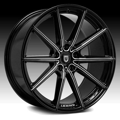 Lexani CSS-10 Gloss Black Milled Custom Wheels Rims 1