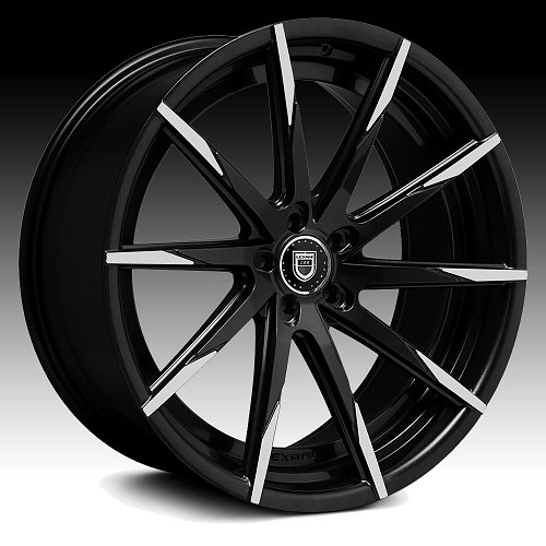 Lexani CSS-15 Gloss Black Machined Tip Custom Wheels Rims 1