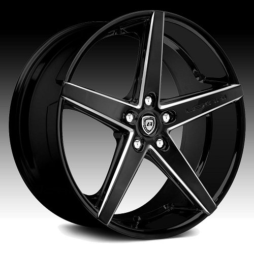 Lexani R-Four Black Milled Custom Wheels Rims 1
