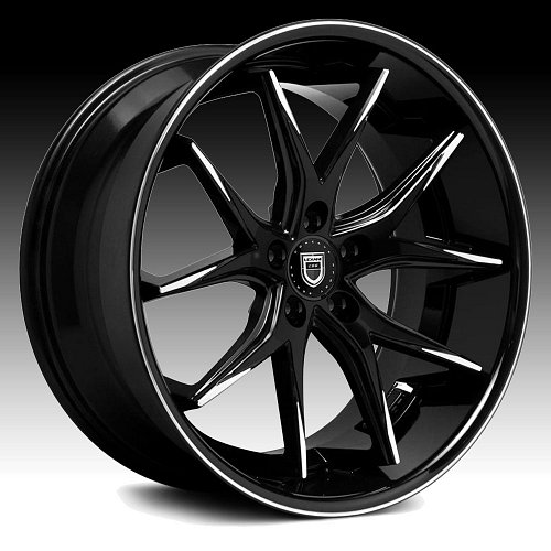 Lexani R-Twelve Black Machined Tip Custom Wheels Rims 1