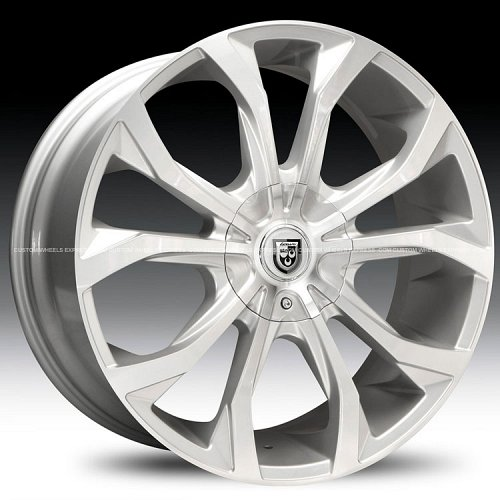 Lexani Lust Silver Machined Custom Rims Wheels 1