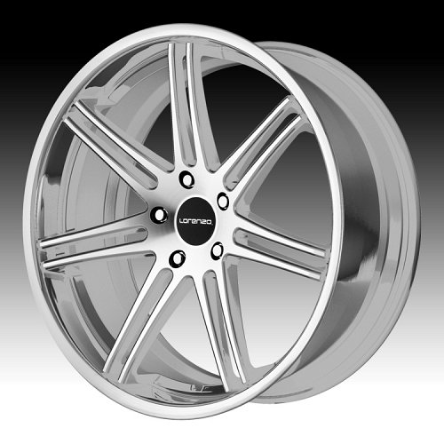 Lorenzo WL198 Machined Silver Stainless Lip Custom Rims Wheels 1