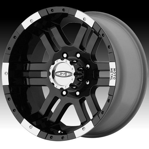 Moto Metal MO951 Gloss Black Machined Custom Wheels Rims 1