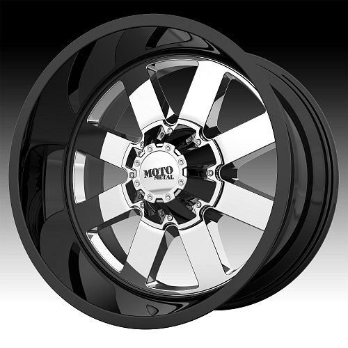 Moto Metal MO962 Chrome PVD Gloss Black Chrome Custom Wheels Rims 1