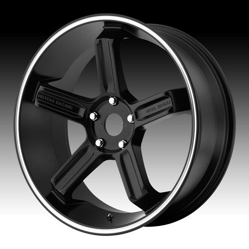 Motegi Racing MR122 122 Satin Black w/ Machined Stripe Custom Rims Wheels 1