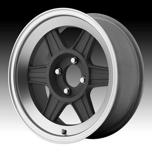 Motegi Racing MR124 124 Mag Gray w/ Machined Lip Custom Rims Wheels 1