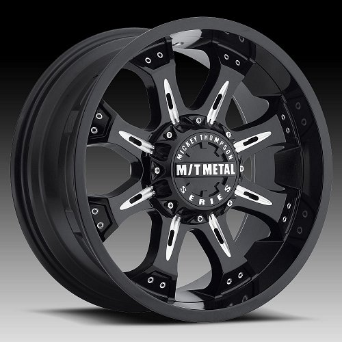 Mickey Thompson Metal Series MM164B Black Custom Wheels Rims 1